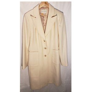 Off-White Trench Coat, Banana Republic, Size 14